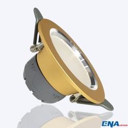 Đèn LED âm trần Downlight 5W mẫu DTG viền Vàng