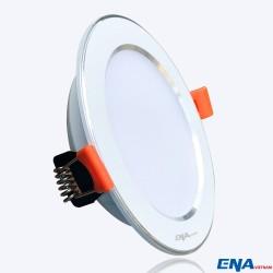 Đèn LED âm trần Downlight 5W 3 chế độ mẫu DTF viền Bạc