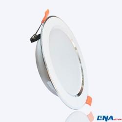 Đèn LED âm trần Downlight 7W 3 chế độ mẫu DTF140 viền Bạc
